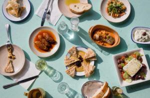 Griekse mezzetafel